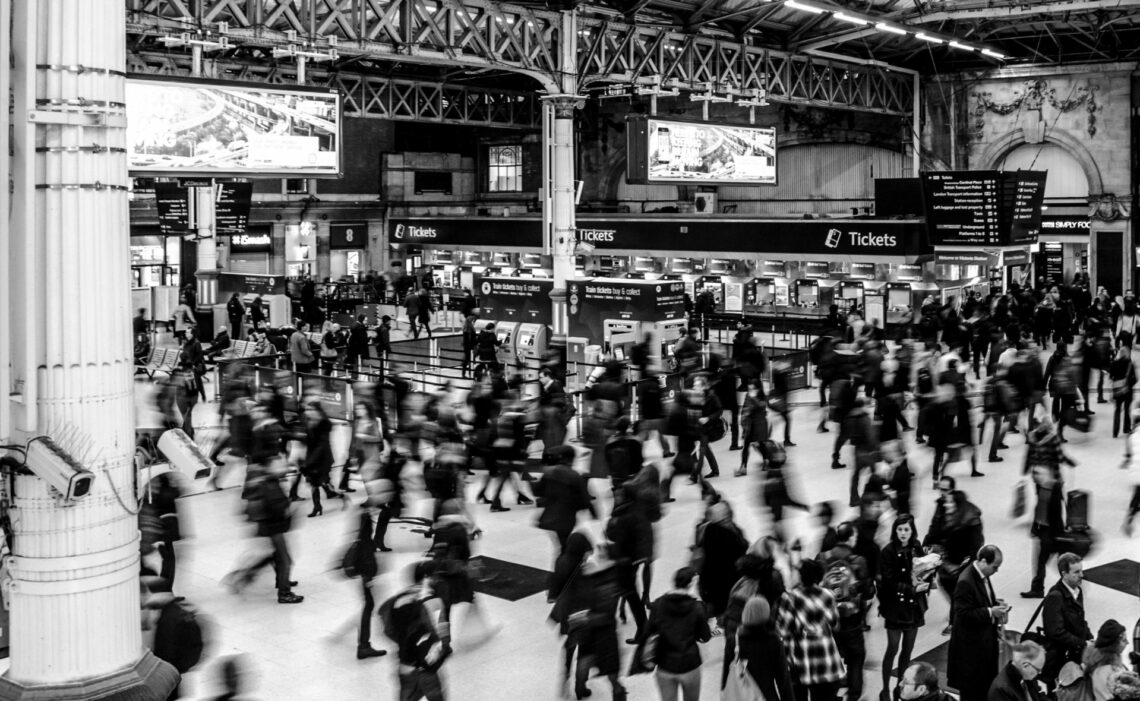 People walking in a terminal