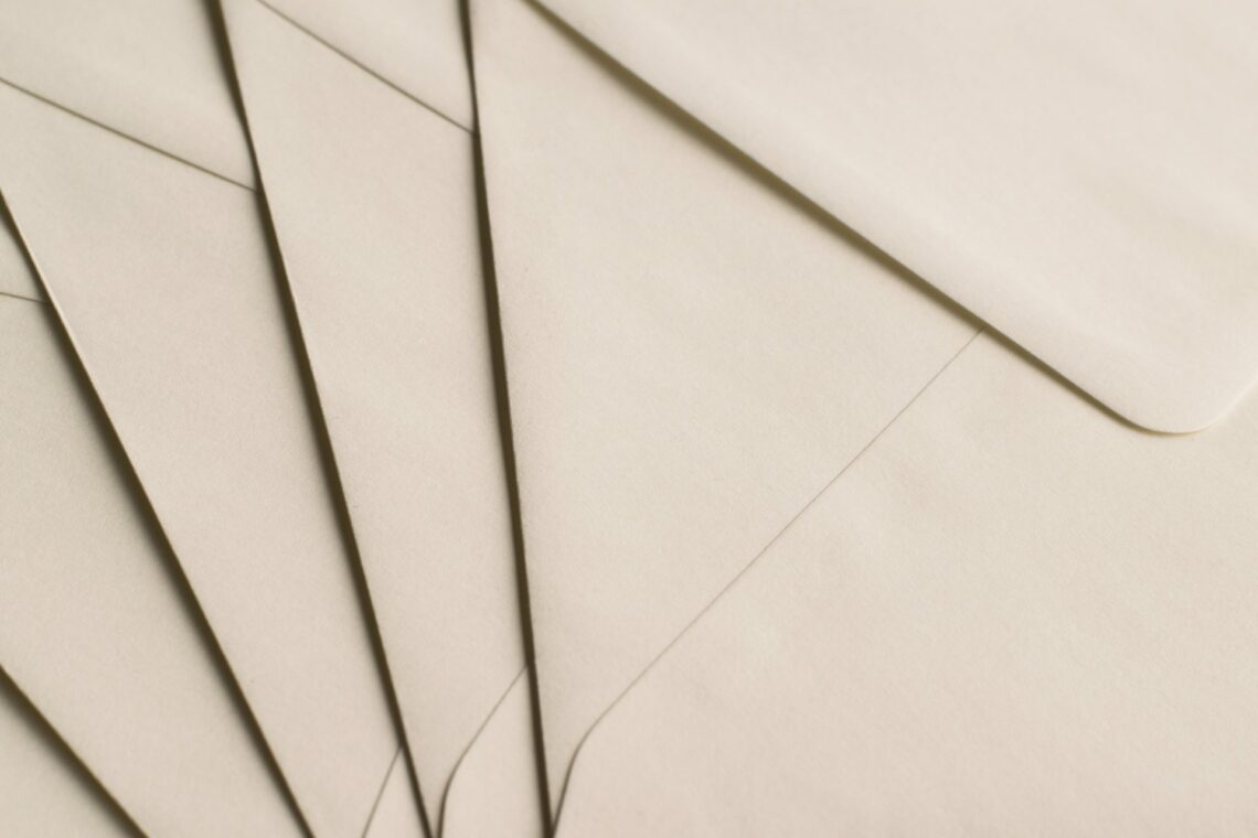 Close up envelopes and letters