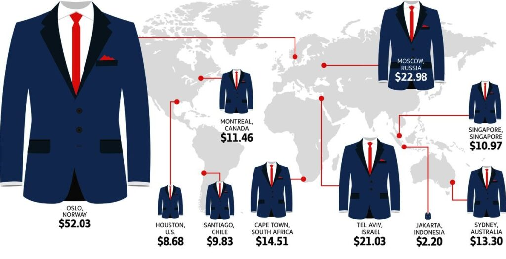 how to clean a suit, suit cleaning costs around the world